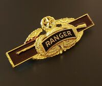 RANGER MASTER JUMP WINGS US Army Combat Infantry Badge GOLD CIB Airborne Pin