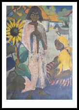Otto Müller Zigeuner mit Sonnenblume Poster Bild Kunstdruck & Alu Rahmen 90x70cm