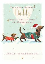 Christmas Card - Daddy Dachshund - The Wildlife Ling Design Quality NEW