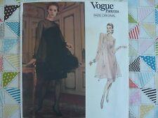Vogue 2388 Paris Original GIVENCHY formal dress Sewing Pattern size 6-8-10