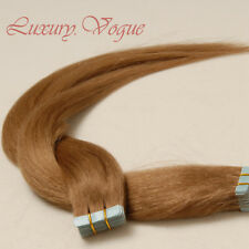 40pcs 100% Human Hair 3M Tape-in Extensions Remy #10 (Med-light Brown)
