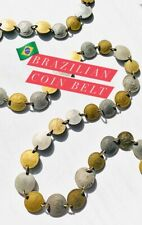 BRAZILIAN COIN BELT. Old (retired) currency silver & gold coins. 1 of a kind.