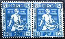Ireland - 2½d Blue 1945 SG135 Pair Mint Lightly Hinged