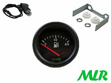 52MM livello carburante Gauge Electric BLACK FACE Pista Corsa Rally Kit Auto mlr.auk