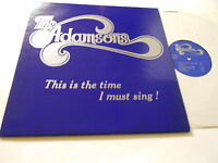 THE ADAMSONS -nm- THIS IS THE TIME I MUST SING    LP VINYL  INDIANA  ,