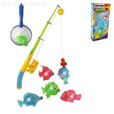 Toddler Toys Magnetic Light Up Fishing Bath Toy Set For Kids Toddlers Childrens