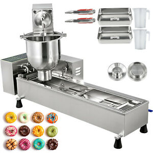 Commercial Automatic Donut Maker Making Machine Wide Oil Tank 3 Sets Free Mold