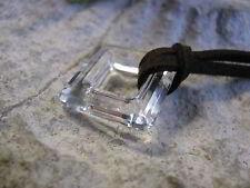 Square Ring groß 20mm crystal von Swarovski Kristallglas Facettenschliff farblos