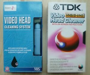 TDK & Power Plus VHS Video Head Cleaners
