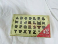 Close To My Heart Wood Mounted Alphabet letter Rubber Stamps