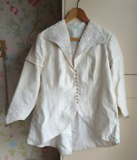 Gypsophila Size 18 Vintage Cream Raw Silk Wedding Jacket with Beading Detail