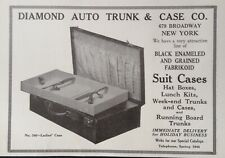 1921 AD(K9)~DIAMOND AUTO TRUNK & CASE CO. NYC. SUIT CASES, RUNNING BOARD TRUNKS