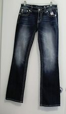 Miss Me Womens Lace Overlay Back Flap Pocket Boot Cut Jeans JY8270B Sz 29 - NWT