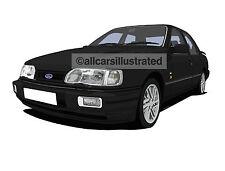 Sierra Sapphire Rs Cosworth porte-clés en métal. choisissez votre voiture de couleur