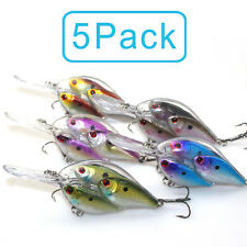 5 Lot Fishing Lure Live Target Baitball Shad Bill Juvenile Treble Hook Crankbait