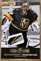 Fleury Las Vegas Golden Knights vs Flyers Season 2 Opening Night Program Poster