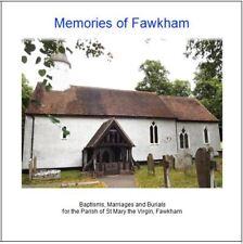 Fawkham, Kent - BMDs Parish Registers Transcripts on CD