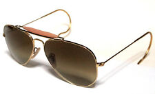 RAY BAN 3030 58 OUTDOORSMAN GOLD ORO PERSONALIZZATO BROWN GRADIENT SFUMATO REMIX
