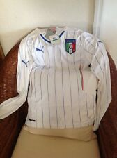 Puma Italia Long Sleeves White Soccer/futbol Jersey/shirt New With Tags Sz M Men