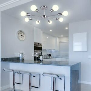 Industrial Sputnik Chandelier Pendant Lamp Ceiling Fixture 8 Light Dining Room