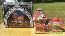 Creepy Hollow Train Depot Porcelain Halloween village display
