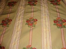 Scalamandre Embroidered Floral Flowers Upholstery Fabric 8 yards Stroheim Romann
