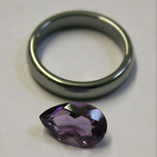NATURAL LOOSE AMETHYST GEMSTONE 13X8MM 3CT FACETED PEAR  PENDANT RING GEM AM59Ja