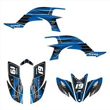 YFZ 450 graphics kit 2003 2004 2005 2006 2007 2008 Yamaha stickers #3333 Blue