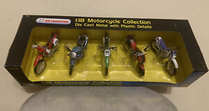 Maisto 1:18 Die Cast Plastic Kawasaki Motorcycles 5 pack Collection #32037-1601