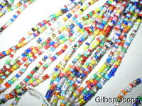"10 STRANDS OF BEAUTIFUL AFRICAN TRADE BEADS   40"" long"