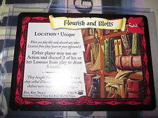 HARRY POTTER TCG DIAGON ALLEY FLOURISH AND BLOTTS 8/ 80 RARE ENGLISH MINT NEUF