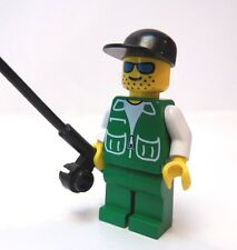 LEGO  Salmon Fly Trout Fisher Fishing Fisherman with Pole Rod
