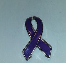 "Set of 12 Purple Ribbon Awareness Tac Pin 1"" purple ribbon pin Relay for LIfe"