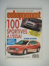ECHAPPEMENT 240 ALPINE A 310 V6-TOYOTA CELICA GT/4 GrA-100 ESSAIS DE SPORTIVES
