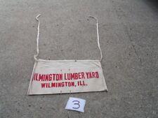 Vintage Wilmington Lumber Yard Wilmington ILL Carpenter Nail Cloth Apron