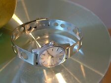 OMEGA GENEVE Ladies Watch cal 630 Stainless Steel Tissot Band 17j RUNS Great