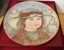 Academy of Collectible Art Wendy by Edna Hibel Collectible Plates No. 10713