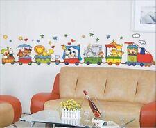Wandtattoo Wand Sticker Aufkleber Zug   Tiere Train   ZOO  Kinderzimmer NEU