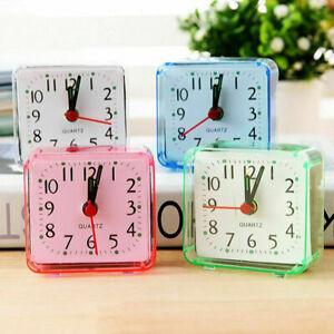 Modern Mini Quartz Clock Travel Alarm Clock Bedroom Clock Table Y4F7 4 Home P0K3