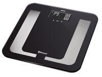 AEG Körperfettwaage Analysewaage Fitnesswaage 8in1 schwarz Bluetooth App black