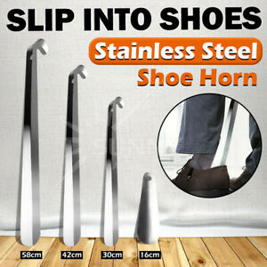 16-58cm Shoe Horn Professional Metal Shoehorn Stainless Steel Lifter Tool New
