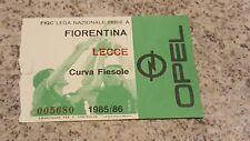 BIGLIETTO STADIO CALCIO SERIE A FIORENTINA LECCE 1985 1986 CURVA FIESOLE