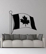 Removable Vinyl Sticker Mural Decal Wall Decor Canada Flag Emblem VY468