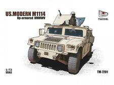 T-Model Us Modern M1114 Up-Armored Hmmwv 1:72 Kit Model Set Item tm-7201