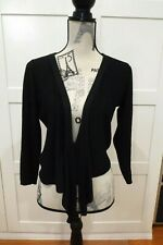 DKNY Black Cardigan Sweater Tie Size P