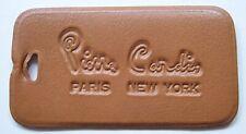 Vintage Pierre Cardin Paris New York Brown Leatherette Luggage Tag