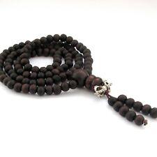 Wood Tibet Buddhist Prayer Beads Mala Necklace--108Beads--6mm