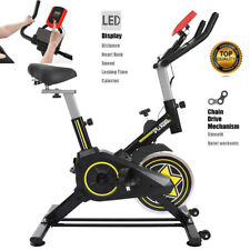 Stationary Indoor Bicycle Cardio Exercise Bike w/Tablet Stand & Soft Cushion Us