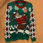 New, Ugly Christmas Sweater Motion Censored Light Up Unisex Size: L