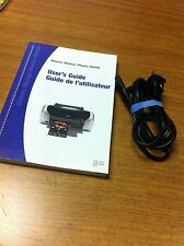 EPSON STYLUS PHOTO R200 USER'S GUIDE AND POWER ADAPTER CORD USED